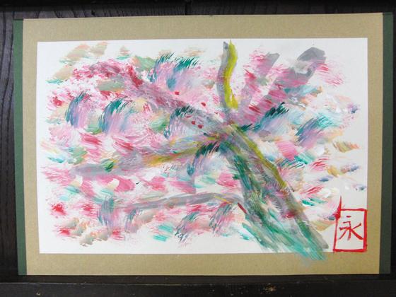 絵画 ~ 桜屏風 ~_e0222340_15445659.jpg