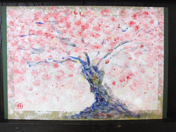 絵画 ~ 桜屏風 ~_e0222340_15473727.jpg