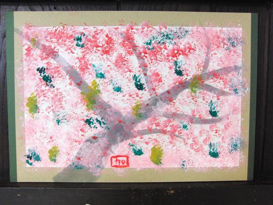 絵画 ~ 桜屏風 ~_e0222340_1549859.jpg