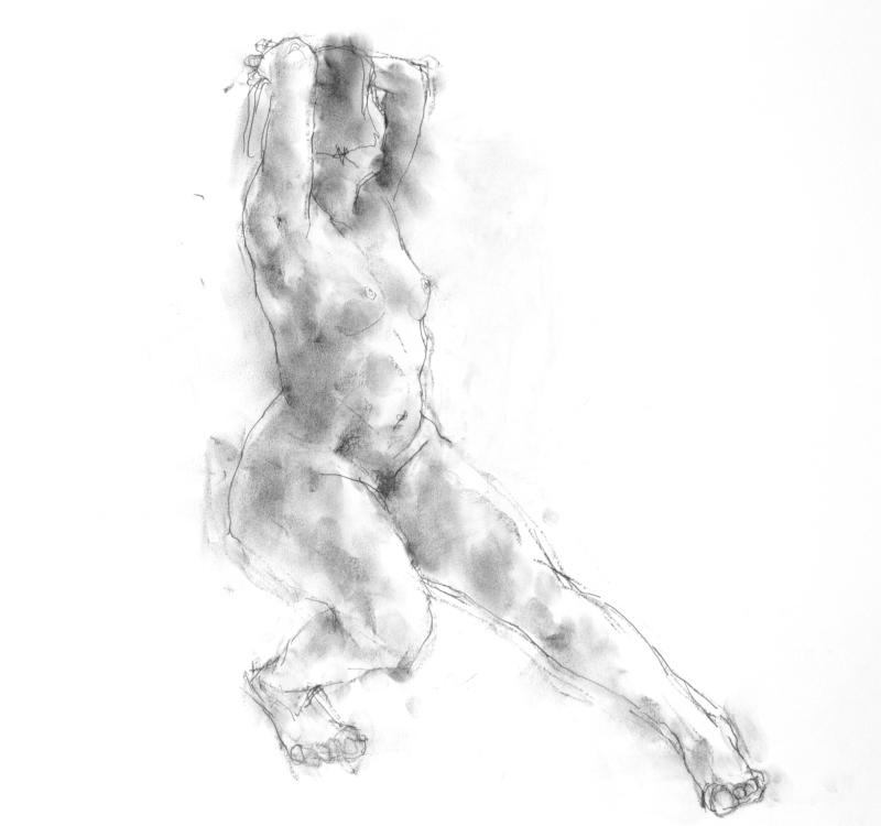 《 三月のある日の 「 裸婦クロッキー(croquis)」 7 》_f0159856_22455040.jpg
