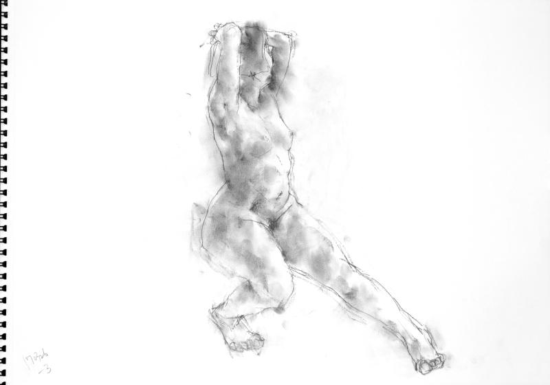 《 三月のある日の 「 裸婦クロッキー(croquis)」 7 》_f0159856_22461888.jpg