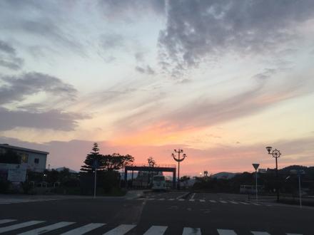 古仁屋港の夕景_e0028387_19084917.jpg
