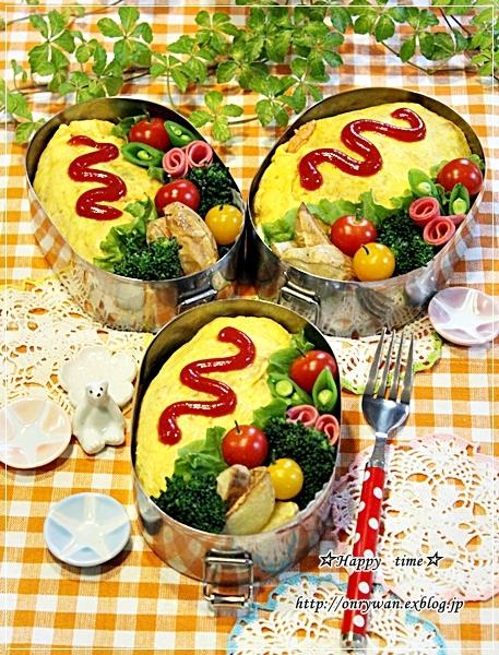 オムライス弁当と大豆の水煮と~♪_f0348032_18121114.jpg