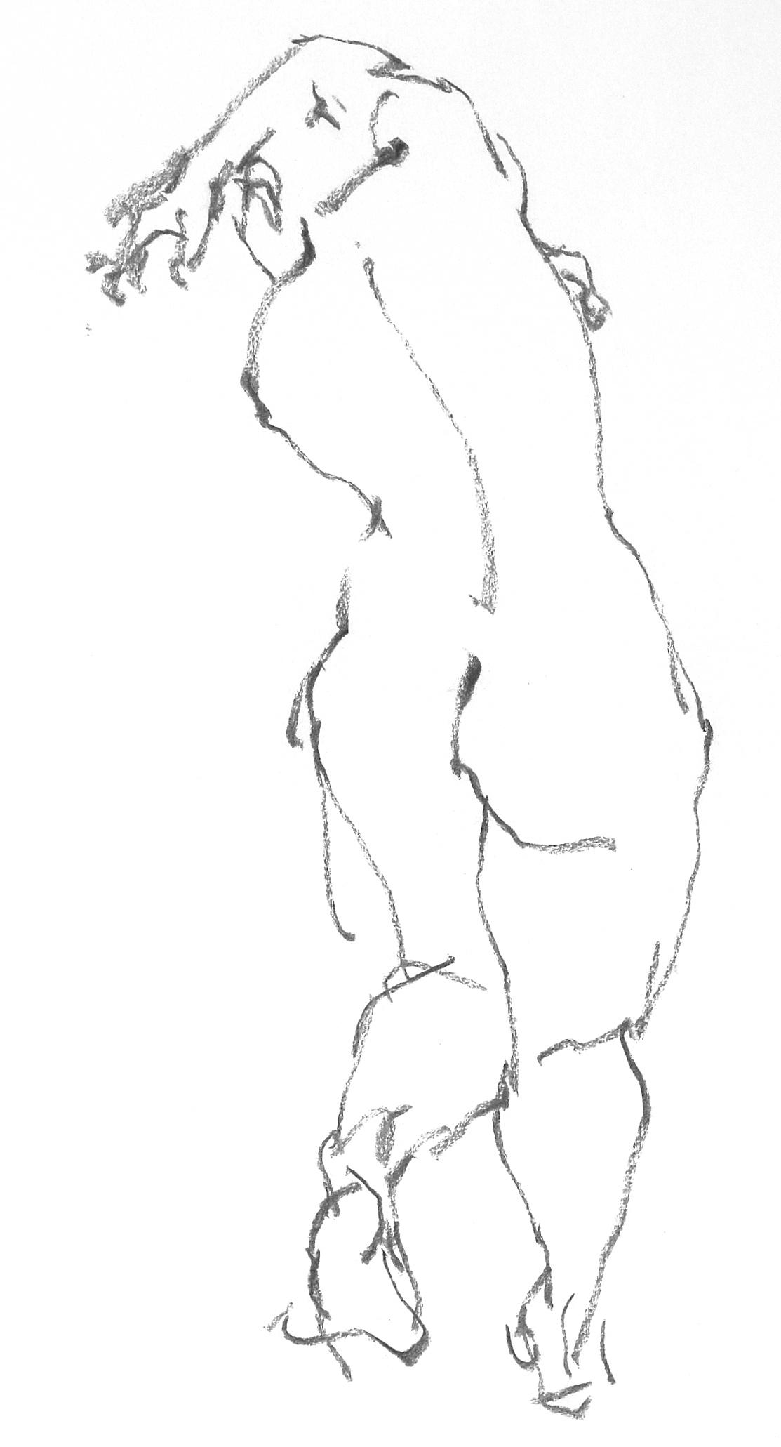 《 三月のある日の 「 裸婦クロッキー(croquis)」 8 》_f0159856_01251999.jpg