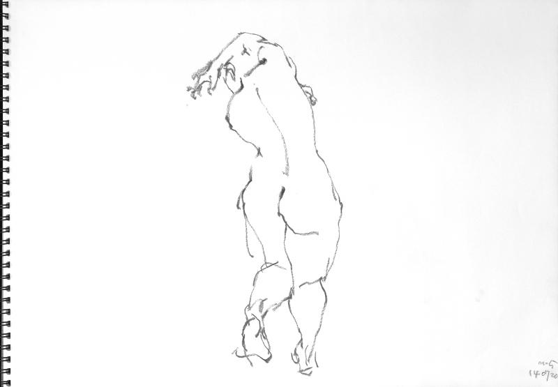 《 三月のある日の 「 裸婦クロッキー(croquis)」 8 》_f0159856_01260884.jpg