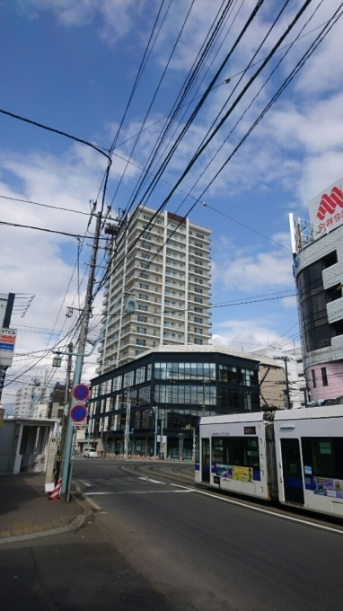 2017年3月31日(金)今朝の函館の天気と積雪、気温は。現在の函館市本町のホリタデパートは_b0106766_06364834.jpg