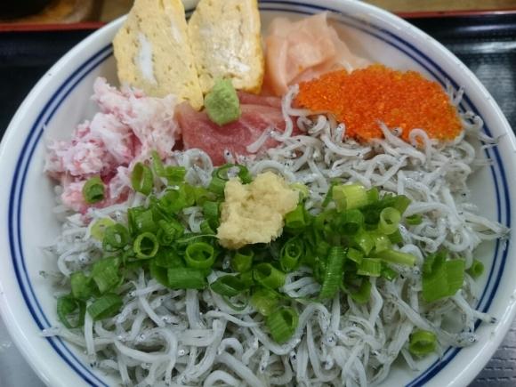 3/30夜勤明け  市場寿司たか  豪海しらす丼¥500@八王子卸売りセンター_b0042308_05015844.jpg