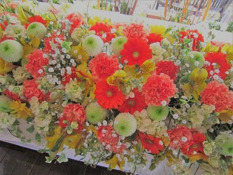 ビタミンオレンジとピンポンマムの会場花♪_f0054809_2251856.jpg