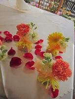 ビタミンオレンジとピンポンマムの会場花♪_f0054809_2272698.jpg