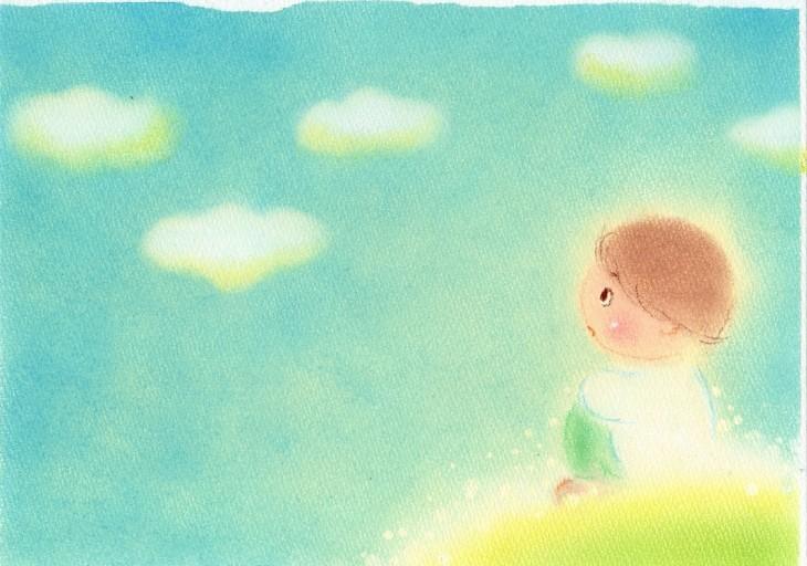 絵本~「雲からの贈りもの」表紙~P2_f0183846_08564663.jpg