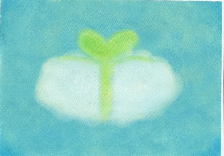 絵本~「雲からの贈りもの」表紙~P2_f0183846_09001981.jpg