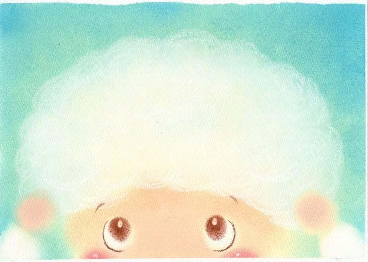 絵本~「雲からの贈りもの」P3~P4_f0183846_09113449.jpg