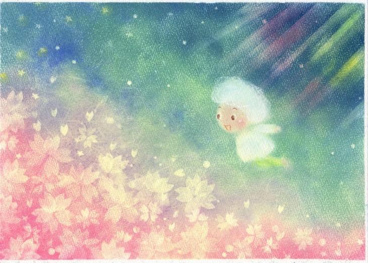 絵本~「雲からの贈りもの」P5~P6_f0183846_09122509.jpg