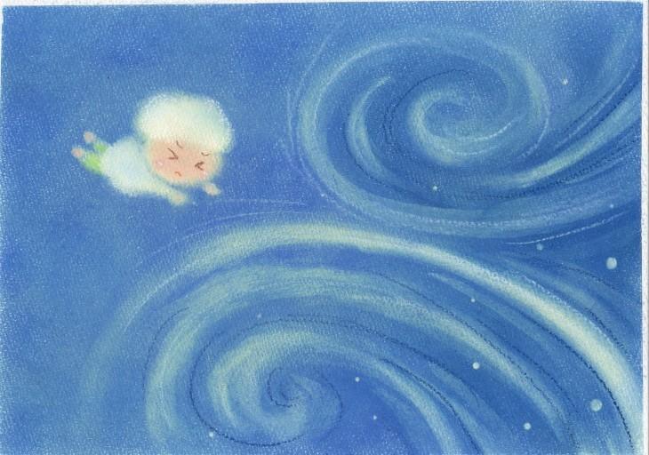 絵本~「雲からの贈りもの」P7~P8_f0183846_09125143.jpg