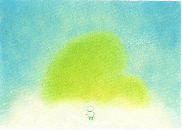 絵本~「雲からの贈りもの」P11~P12_f0183846_09142429.jpg