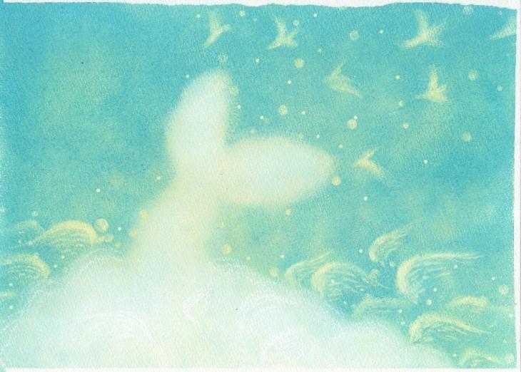 絵本~「雲からの贈りもの」P13~P14_f0183846_09155052.jpg