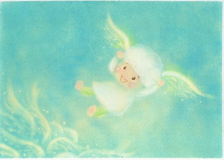 絵本~「雲からの贈りもの」P13~P14_f0183846_09161043.jpg