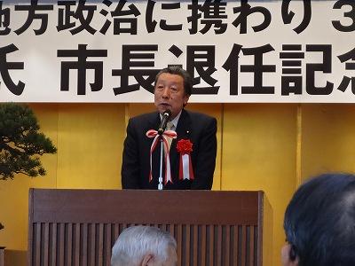 井口一郎氏「市長退任パーティー」_f0019487_9205457.jpg