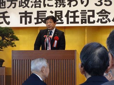 井口一郎氏「市長退任パーティー」_f0019487_9212419.jpg