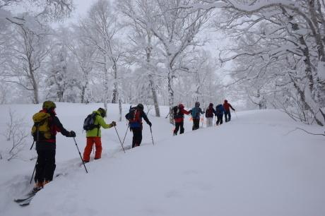2017年1月21日朝里岳を滑る -1_c0242406_08501560.jpg