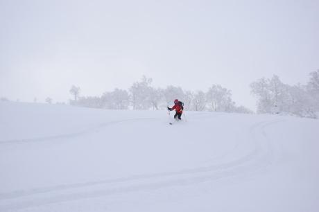 2017年1月21日朝里岳を滑る -1_c0242406_08533413.jpg