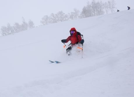 2017年1月21日朝里岳を滑る -1_c0242406_08590866.jpg