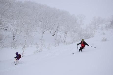 2017年1月21日朝里岳を滑る -1_c0242406_09145406.jpg