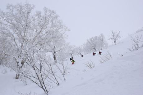 2017年1月21日朝里岳を滑る -1_c0242406_09162474.jpg