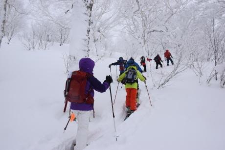 2017年1月21日朝里岳を滑る -1_c0242406_09170454.jpg