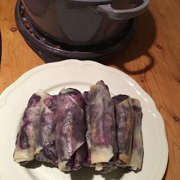 エビチリフライデーとお気に入りの紫色のお野菜_f0238789_21013629.jpg
