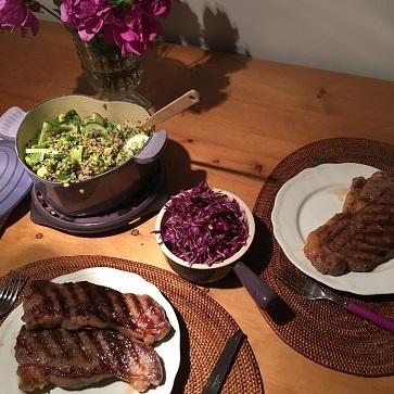エビチリフライデーとお気に入りの紫色のお野菜_f0238789_22132331.jpg
