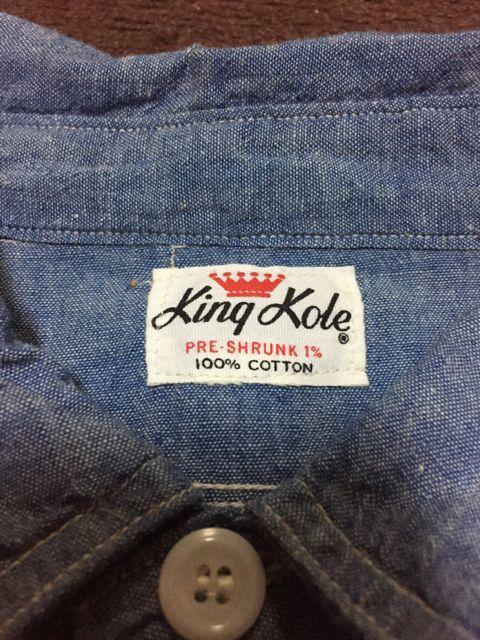 アメリカ仕入れ情報#2 60s KING KOLE シャンブレーシャツ&ワークシャツ!_c0144020_11333592.jpg
