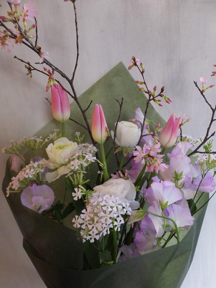 オークリーフ(桜を入れた花束)_f0049672_18084164.jpg