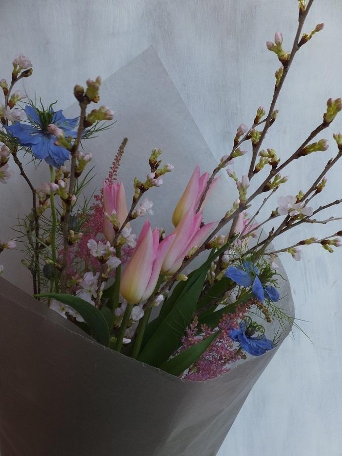 オークリーフ(桜を入れた花束)_f0049672_18085749.jpg