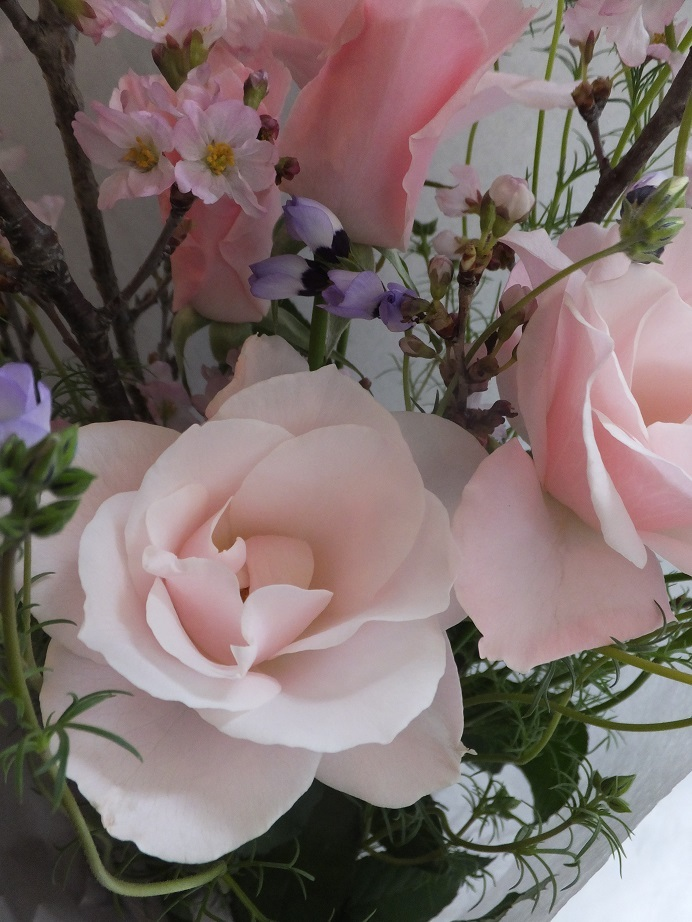オークリーフ(桜を入れた花束)_f0049672_18090542.jpg