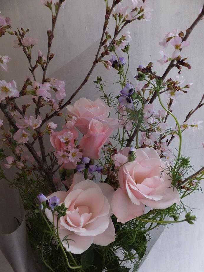 オークリーフ(桜を入れた花束)_f0049672_18091346.jpg