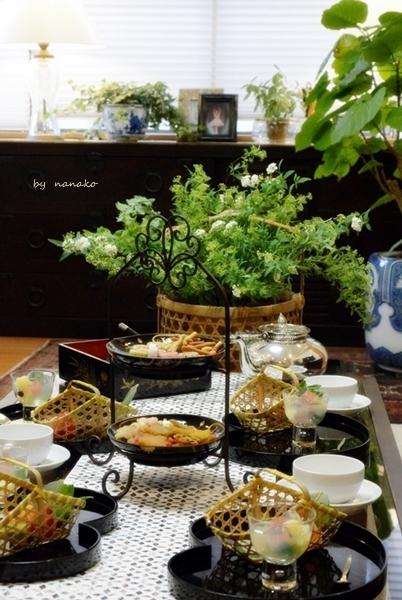 骨董でテーブル遊び_c0364500_15020520.jpg