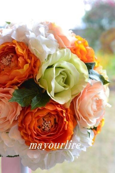 結婚式にラウンドブーケ_d0169179_22354403.jpg