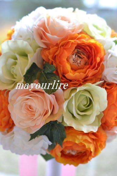 結婚式にラウンドブーケ_d0169179_22443649.jpg