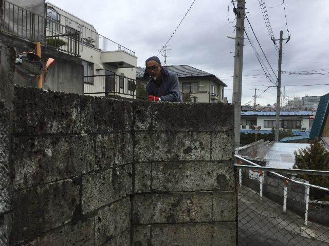 倒壊の危険・・大谷石石塀の撤去処分_f0031037_18513311.jpg