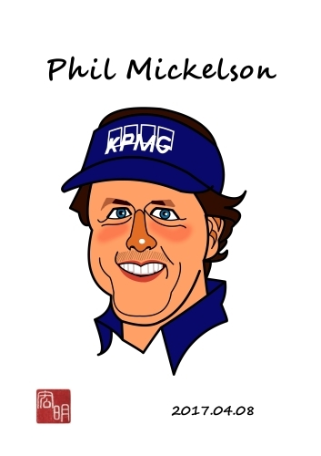 フィル・ミケルソンを描きました。(C015)_f0337513_08152867.jpg