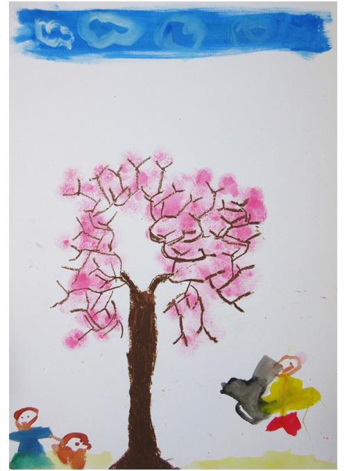 桜満開・小学生クラス(上高野)_f0211514_23155156.jpg