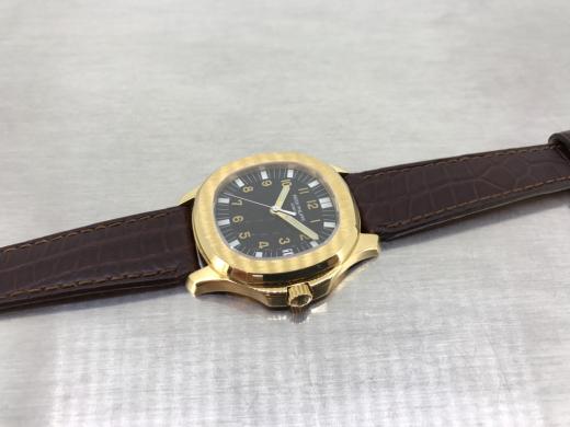 Aquanaut 5065J with dark brown leather straps._c0128818_10350058.jpg
