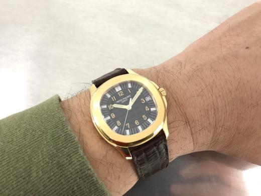 Aquanaut 5065J with dark brown leather straps._c0128818_10350173.jpg
