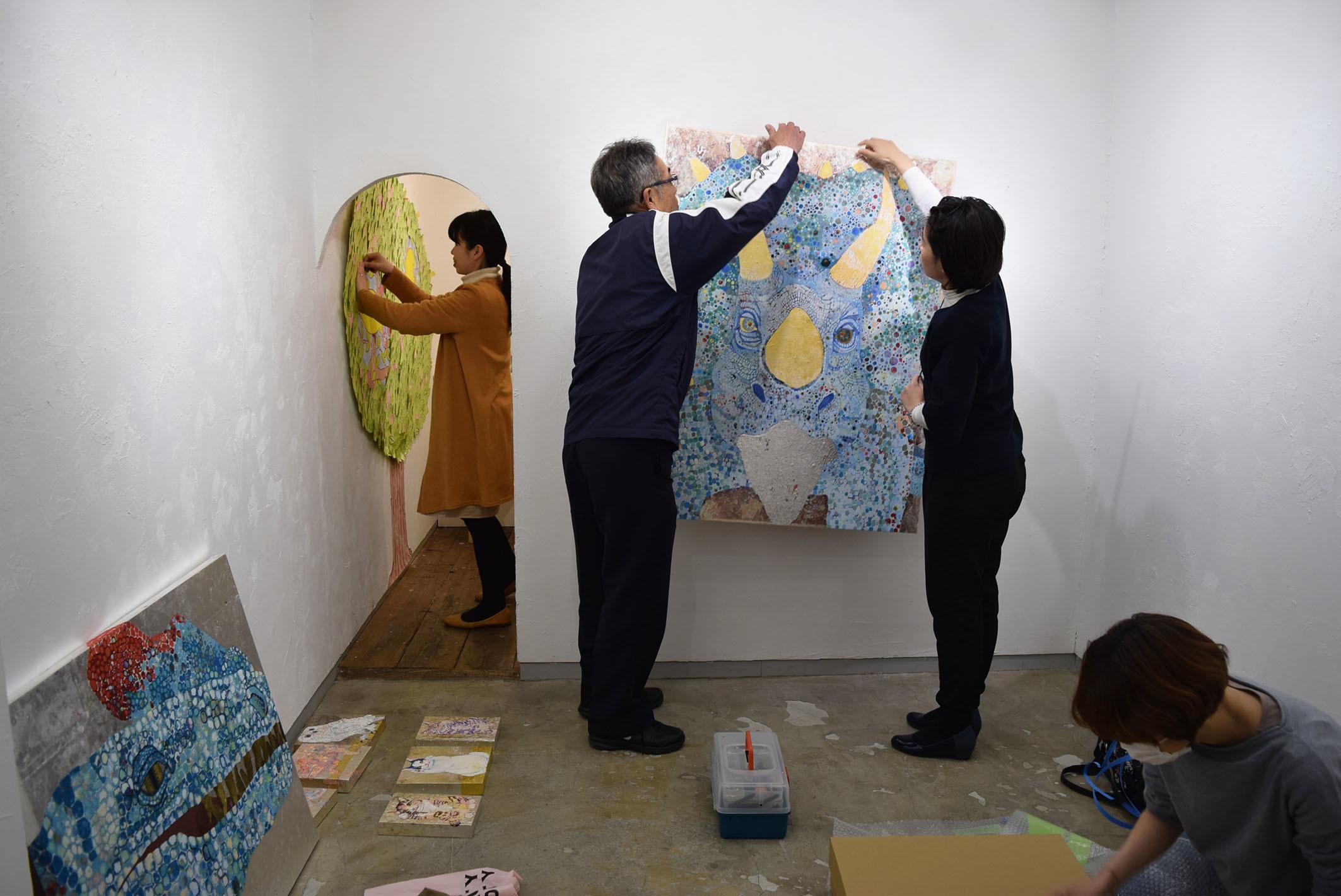 Three Rings 小名木美緒,オオサキケイ,奥山加奈子@搬入_e0272050_14213962.jpg