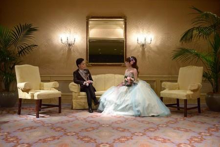 新郎新婦様からのメール アイスブルーのドレスへのブーケ ホテル椿山荘東京様へ_a0042928_2222472.jpg