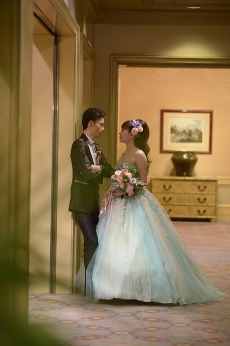 新郎新婦様からのメール アイスブルーのドレスへのブーケ ホテル椿山荘東京様へ_a0042928_22314982.jpg