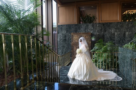 新郎新婦様からのメール アイスブルーのドレスへのブーケ ホテル椿山荘東京様へ_a0042928_22362470.jpg