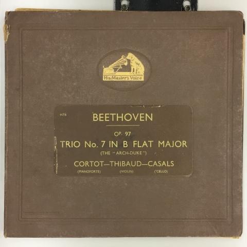 新着レコード紹介 カザルストリオ:ベートーヴェン三重奏曲 大公_a0047010_18081277.jpg