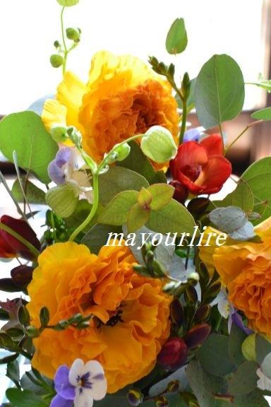 3月のマユールライラ テーブルコーディネート教室 フラワー編_d0169179_23434636.jpg